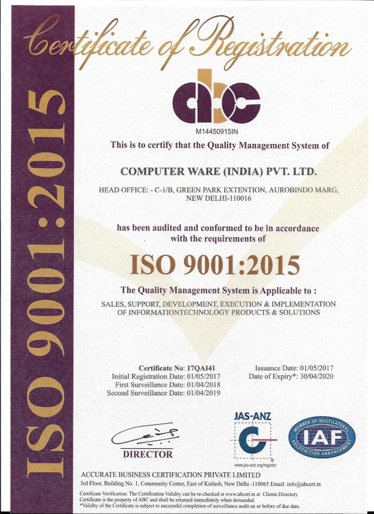 certifications iso computer